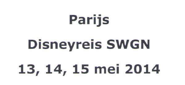 Parijs Disneyreis SWGN 2014
